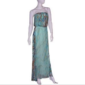 Gypsy 05 Maxi Dress NWT Small Green Multi Silk